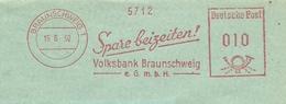 Firmcover Meter Spare Beizeiten Volksbank Braunschweig 15/6/1950 - Fabrieken En Industrieën