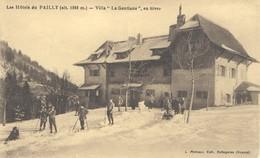 Les Hotels Du Pailly (alt 1268m) Villa La Gentiane En Hiver - Gex