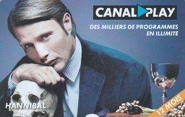 ## Carte  Cadeau  CANAL +  (verso N° 4 )   ##  (France)   Gift Card, Giftcart, Carta Regalo, Cadeaukaart - Cartes Cadeaux