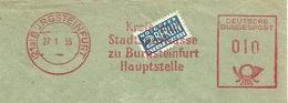 Firmcover Meter Kreis- Und Stadtsparkasse Burgsteinfurt 27/1/1955 Mit Notopfer Steuermarke Berlin - Fabrieken En Industrieën