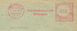 Firmcover Meter Universitatsstadt Tubingen 3/6/1949 - Fabrieken En Industrieën