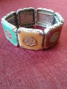 Bracelet Art Deco Ancien En Plaque Argent - Largeur 6x6 - Bracelets