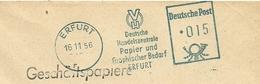 Cover Meter Blau Deutsche Handelszentrale Papier Und Graphischer Bedarf Erfurt 16/11/1956 - Fabrieken En Industrieën