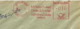 Firmcover Meter Harfe-Verlag Und Druckerei K. Reum & Co Zeitschriften Bad Blankenburg 6/12/1948 - Fabrieken En Industrieën