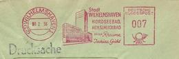 Firmcover Meter Stadt Wilhelmshaven Nordseebad Heilschickbad Gegen Rheuma, Ischias, Gicht, Wilhelmshaven 18/2/1956 - Kuurwezen