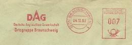 Firmcover Meter IDAG Deutsche Angestelten Gewerkschaft Ortsgruppe Braunschweig 4/10/1962 - Fabrieken En Industrieën