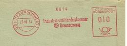 Firmcover Meter Industrie- Und Handelskammer Braunschweig 23/10/1951 - Fabrieken En Industrieën