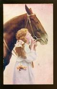Cheval  Paard    Publicité  Reclame Chocolat Martougin - Pferde