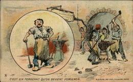 METIERS - FORGERON - Chromo Chicorée Et Tapioca Bourgeois - Autres