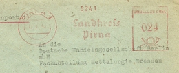 Firmcover Meter IRat Des Kreises Birna 17/3/1943 - Fabrieken En Industrieën