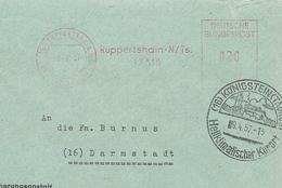 Firmcover Meter Landesversicherungsanstalt Hessen, Ruppertshain  Koningstein Heilklimat 9/4/1957 - Fabrieken En Industrieën