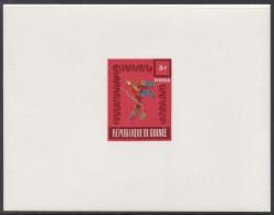 Guinea 1962 3fr, Wildlife, Fauna, Bird, Parrot, Faune, Oiseau, Perroquet, Unissued Scarlet Deluxe Proof, Epreuve - Papegaaien, Parkieten