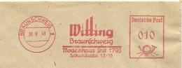 Firmcover Meter E.F. Witting Modeshaus Seit 1793 Braunschweig 30/9/1948 - Textiel
