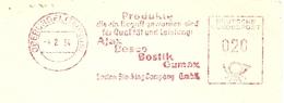 Firmcover Meter Boston Blacking Compagnie Oberbursel (Taunus) 4/2/1954 - Fabrieken En Industrieën