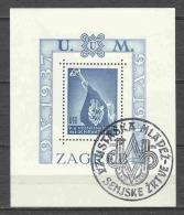 Croatia 1942 Mi Block 3A Canceled (1) - Croatia
