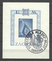 Croatia 1942 Mi Block 3B Canceled (1) - Croatia