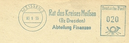 Firmcover Meter Rat Des Kreises Meissen (Dresden) Meissen 3/9/1955 Blau - Fabrieken En Industrieën