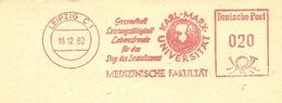 Firmcover Meter Karl-Max-Universitat Medizinische Fakultat Gesundheit Leipzig 18/2/1962 - Geneeskunde