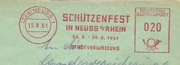 Firmcover Meter Schuttenfest In Neuss Am Rhein Ness, 15/8/1961 - Fabrieken En Industrieën