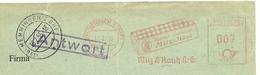 Firmcover Meter Milz & Raugh Antwort Memmingen 18/5/1955 - Fabrieken En Industrieën