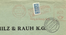 Firmcover Meter Milz & Raugh Antwort Kempten 26/10/1955  Mit Notopfer Steuermarke Berlin - Fabrieken En Industrieën