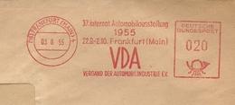 Firmcover Meter  37 Intern. Automobilausstellung 1955 VDA Frankfurt 3/8/1955 - Auto's