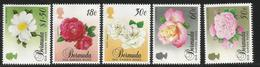 1989 Bermuda Old Garden Roses Flowers Complete Set Of 5   MNH - Bermuda