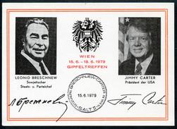 Leonid Breschnew, Jimmy Carter, Gipfeltreffen Wien, 15.6.1979, SALT II, Gedenkblatt - Ereignisse
