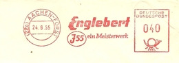 Firmcover Meter  Englebert J55 Ein Meisterwerk Aachen-Forst 24/6/1955 - Fabrieken En Industrieën