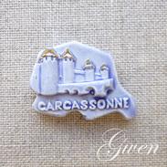 Feve MH Moulin A Huile Regionale Puzzle Chateau Carcassonne Miniature - Regions