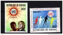 Sénégal N° 345 / 46 XX Année Internationale Contre Le Racisme Et La Discrimination Raciale La Paire Sans Charnière, TB - Senegal (1960-...)