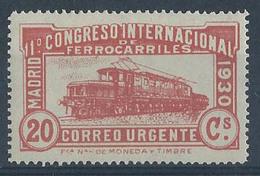 ES482FSFT-LFT***482FTAN.España.Spain.Espagne. Locomotora COCODRILO.CONGRESO  DE.FERROCARRILES.1930  (Ed 482F**) - 1889-1931 Reino: Alfonso XIII