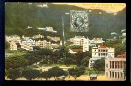Central Park Of Hongkong And Peak View With The Peak Tram / Postcard Circulated, 2 Scans - Cina (Hong Kong)