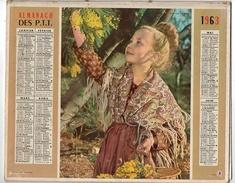 Calendrier Almanach Des P.T.T De 1963 Avec Illustration Cueillette Du Mimosas  - Sans Le Cahier Central - Calendriers