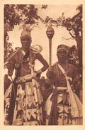 CPA DAHOMEY ABOMEY LES DEUX CHEFS DU FETICHE DU TONNERRE - Dahomey