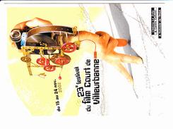 VILLEURBANNE, Festival Du Film Court, Meccano, Camera Gopro, Ed. Catr.a Pub 2002 - Affiches Sur Carte
