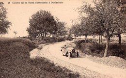 ROUTE D'INNENHEIM A DUTTLENHEIM  -  CABRIOLET MATHIS DANS UNE COURBE -  Vers 1921 - 1922 - France