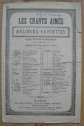Partition - Les Chants Aimes - Melodies Favorites - N°50 : La Colombe (La Paloma) - Musique & Instruments