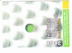VAULX EN VELIN Festival Du Film Court Farncophone, Oeuf Peint, Ed. Cartapub 2003 - Affiches Sur Carte