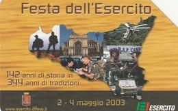 SCHEDA TELEFONICA USATA 148 FESTA DELL ESERCITO - Italia