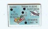 92 93 94 75  Magnet Le Gaulois Departement 92 93 94 75 PARIS - Magnets