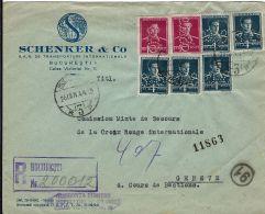 PRISONER WAR COMMISSION SECOURS CROIX ROUGE GENEVE 1944 BUCARESTI ROMANIA - 1900-44 Victor Emmanuel III.