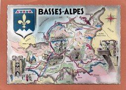 04 LES BASSES ALPES - Cartes Géographiques