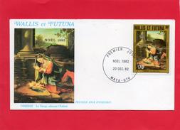 Pli En 1° Jour Du 20/12/1982  ( Noêl 1983 La Vierge  Adorant L'Enfant ) - Lettres & Documents
