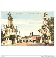 GPCATP6857CP-LFT7041TBES.Tarjeta Postal DE GUIPUZCOA.,edificios,ARTE.esculturas.PUENTE DE MARIA CRISTINA.San Sebastian. - Esculturas