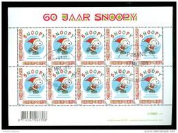 NEDERLAND *  NVPH V 2777 * SNOOPY  *  BLOK * BLOC * BLOCK * NETHERLANDS * GEBRUIKT - Gebruikt
