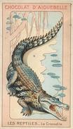 Chromo Chocolat D'Aiguebelle Les Reptiles Le Crocodile Texte Au Dos - Aiguebelle