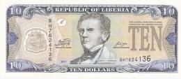 LIBERIA   10 Dollars   2011   P. 27f   UNC - Liberia