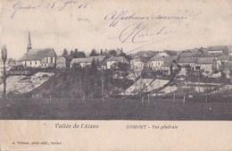 08 GOMONT  Vallée De L' Aisne  Maisons Du VILLAGE  EGLISE à Travers CHAMPS Ecrite 1905 - Francia