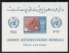 Afganistan 1963, Space, Metereological Day, BF IMPERF. - Afghanistan